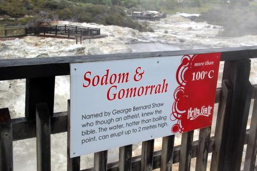 ... für den ist Sodom und Gomorrah nicht fern.