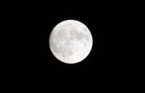 So schön groß und fast voll war der Mond heute Abend schon zu sehen.